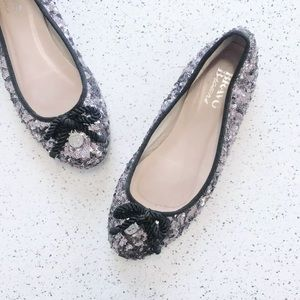 BROWNS sequin party flats